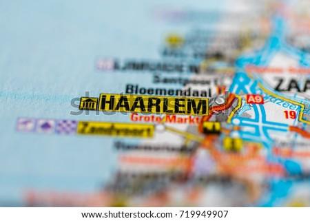Haarlem On Map Stock Photo (Edit Now) 719949907 - Shutterstock
