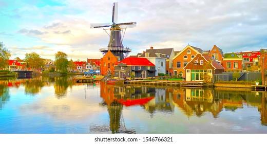 Haarlem Windmill De Adriaan, Netherlands