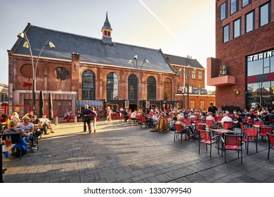HAARLEM/HOLLAND - April 18, 2018: Jopenkerk old church and brewery in Haarlem.
