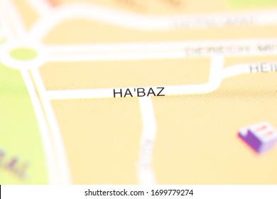 Ha'baz on a geographical map of Israel