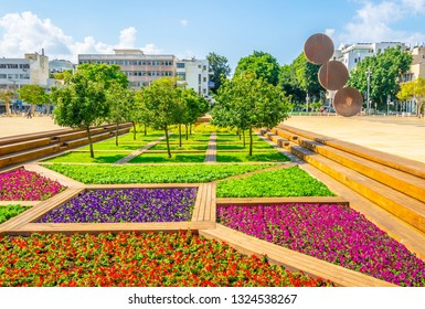 Habima square in the center of Tel Aviv, Israel