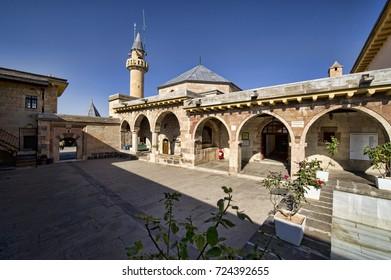 Haci Bektas-i Veli Tomb and Museum in Nevsehir, Turkey. September 06, 2011.