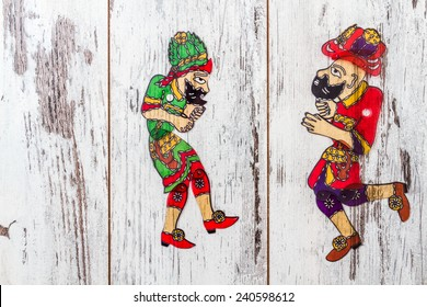Hacivat and Karagoz from traditional Turkish shadow play, popularized during the Ottoman period