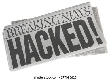 Hacked - Newspaper headline