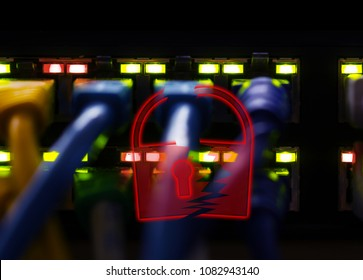 Hacker attack, network has been cracked