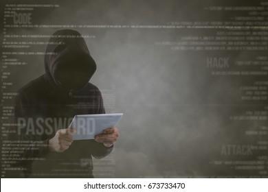 Hacker cyber for hack system together.