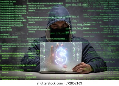 Hacker stealing dollars from bank