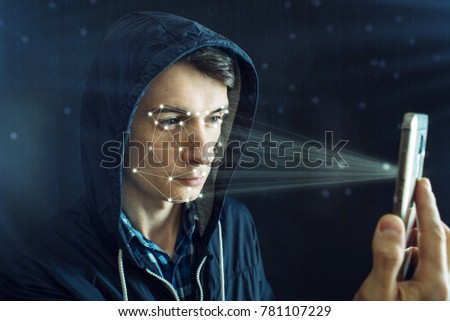 Hacker Trying Hack Into Phone Using Stock Photo (Edit Now