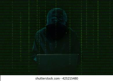 Hacker at work.