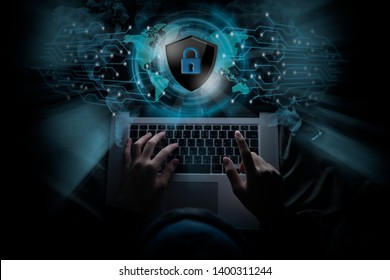Hackers are using his laptop to hacking system Try to elicit information Private of people on the internet. Concept of Tragedy and Online Secret Defense
