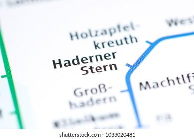 Haderner Stern Station. Munich Metro map.