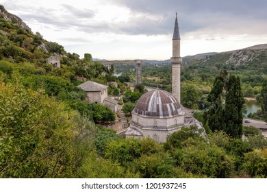 Hadji Alija's mosque in Pocitelj, built in 1563, restored in 2002, considered one of the most impressive Ottoman-period single-room domed mosques in Bosnia and Herzegovina.