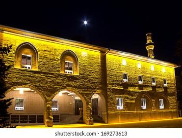 Hadji Bayram Mosque at Ankara - night, Turkey