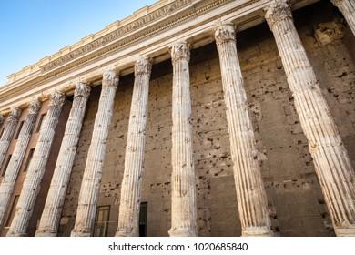 Hadrian Temple, Piazza di Pietra, Rome, Italy