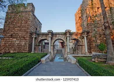 Hadrian's Gate in old city of Antalya