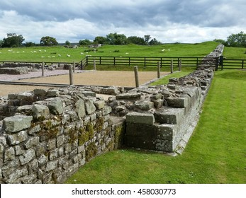Hadrian's wall is a long distance footpath in the north of England, which became a National Trail in 2003. It had a stone base and a stone wall. There were milecastles with two turrets in between.