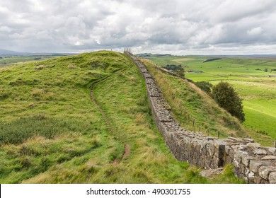 Hadrian's Wall in northern England.