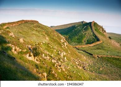 Hadrian's wall, Northumberland, Scotland, UK, Europe