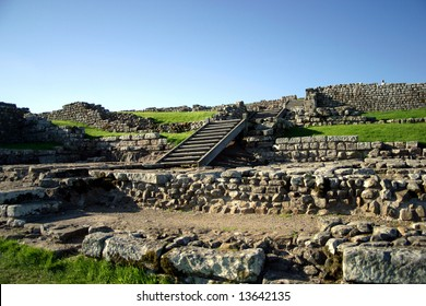 Hadrian's Wall Ruins in Northern England on the border of Scotland