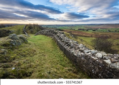 Hadrian's Wall at Walltown Crags.  One of the best preserved parts of the Roman wall.