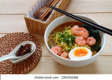 "Hae mee (also called prawn mee)  is a noodle soup dish popular in Malaysia and Singapore. It can also refer to a fried noodle dish known as Hokkien mee. Its name literally means ""prawn noodles""."