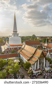 Hae Pha Khuen That Festival is celebrated at Phra Borom That Chedi at Wat Phra Mahathat Woramahawihan in NAKHON SI THAMMARAT, THAILAND