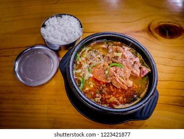 HAEJANGGUK, Korean food hangover stew. South Korea.