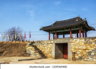 haemieupseong fortress gate in seosan, south korea