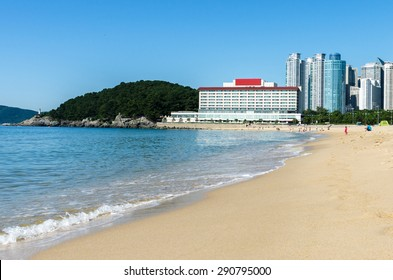 Haeundae Beach at Busan in Korea