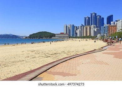 Haeundae beach in the morning, Busan, Korea