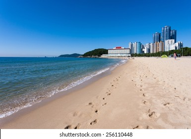 Haeundae District and Sea, Busan city in Korea