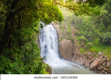 Haew Narok waterfall in the deep forest with abundant nature at Khao Yai National Park, Nakhon Nayok, Thailand