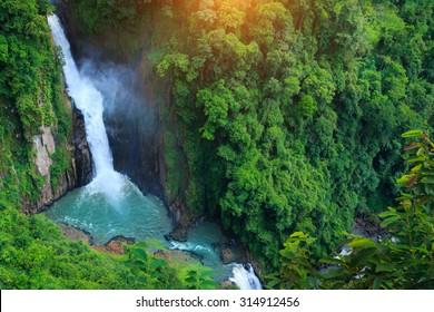 Haew Narok Waterfall in Khao Yai National Park, Thailand