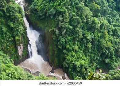 Haew Narok Waterfall in Khao Yai National park , Thailand