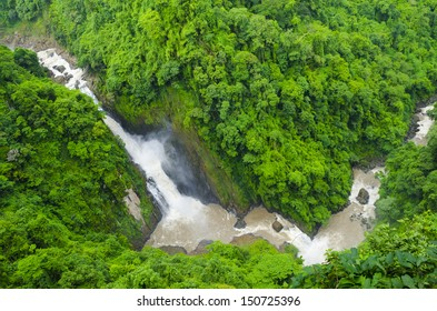 Haew Narok Waterfall located in deep forest at Khao yai National