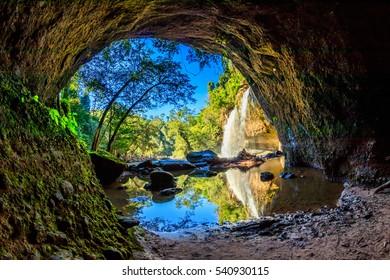 Haew suwat or Heo Suwat waterfall in Khao Yai National Park, Thailand