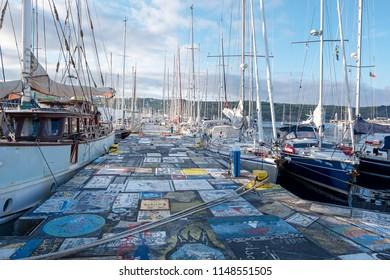 Hafen von Horta auf Faial