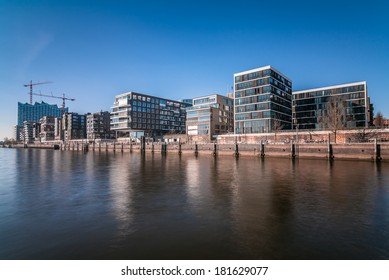 Hafencity in Hamburg with Elbphilharmonie