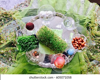 Haft Sin: Persian New Year that starts in first day of spring, seven items that start with the letter S in Farsi.