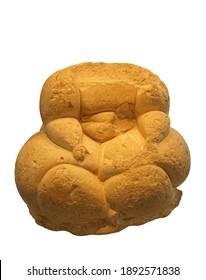 HAGAR QIM, MALTA - NOV 30, 2018 - Neolithic earth goddess figurine, 5 thousand years old, Hagar Qim, Malta