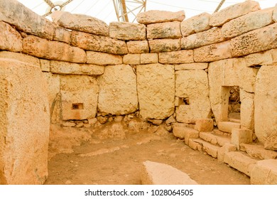 Hagar Qim - megalithic temple complex found on the island of Malta, included in UNESCO Heritage Site.