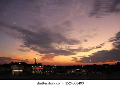 Hagerstown, Maryland / USA - October 2 2019: Sunset Hagerstown, Maryland - Washington county.