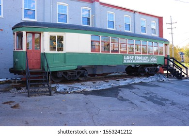 Hagerstown, Maryland / USA - October 27 2019: Last trolly to run in Washington county, Maryland.
