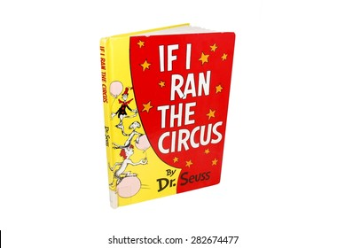 HAGERSTOWN, MD - APRIL 29, 2015: Image of If I Ran the Circus book by Dr. Seuss. Dr. Seuss is widely know for his children's books.