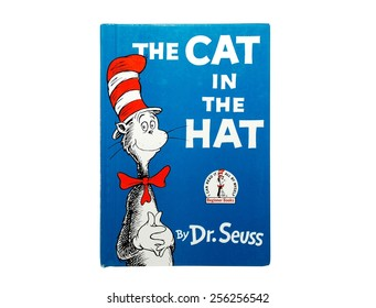 HAGERSTOWN, MD - FEBRUARY 26, 2015:  Image of The Cat in the Hat book by Dr. Seuss.   Dr. Seuss is widely know for his children's books.