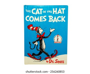 HAGERSTOWN, MD - FEBRUARY 26, 2015:  Image of The Cat in the Hat Comes Back book by Dr. Seuss.   Dr. Seuss is widely know for his children's books.
