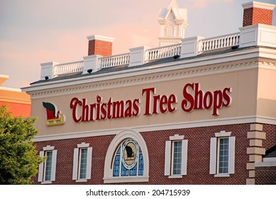 HAGERSTOWN, MD - JULY 11, 2014:  Image of Christmas Tree Shops.  The store first opened in Massachusetts in 1970.