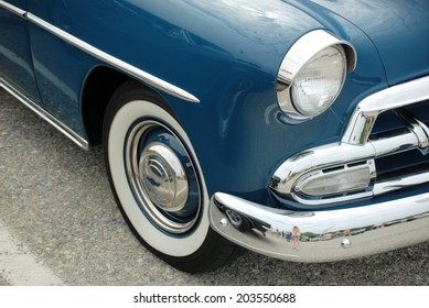 HAGERSTOWN, MD - JUNE 29, 2014: Image of a Chevy Deluxe, proceeds from the car show benefit the newspapers in education program.