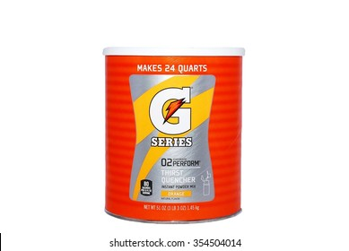 HAGERSTOWN, MD - JUNE 30, 2014:  Image of a Gatorade powder mix on a white background.