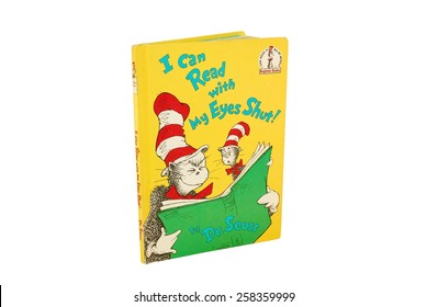 HAGERSTOWN, MD - MARCH 6, 2015: Image of I Can Read With My Eyes Shut! book by Dr. Seuss. Dr. Seuss is widely know for his children's books.